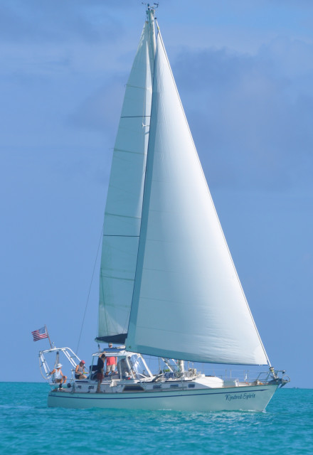 Under sail in the Bahamas