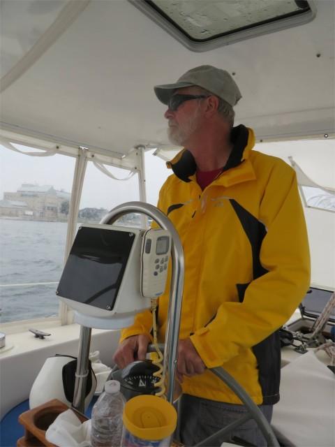 Capt Al at the helm
