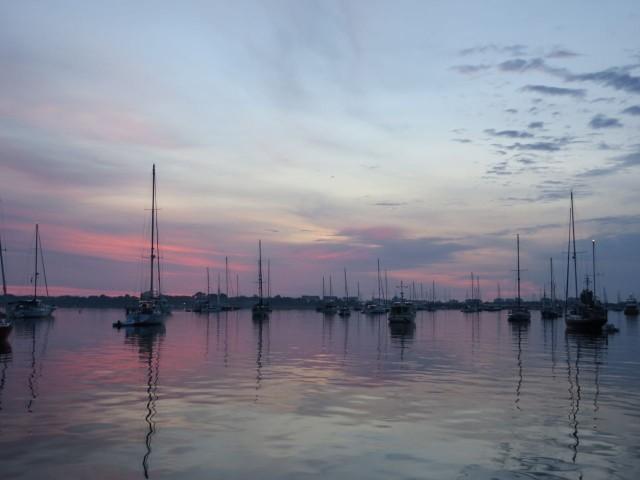 Sunset in the Salt Pond