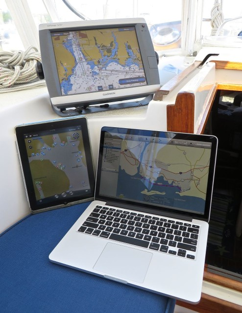 Garmin 5212 with Homeport on the iPad and the Mac