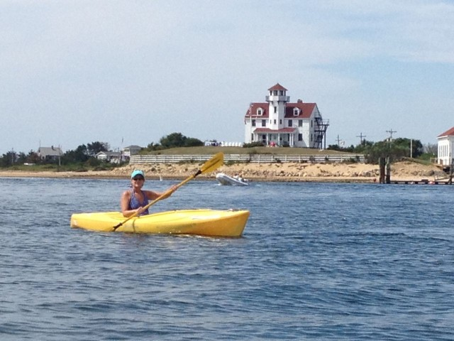 Kayaking near the Block Island Coast Guard Station
