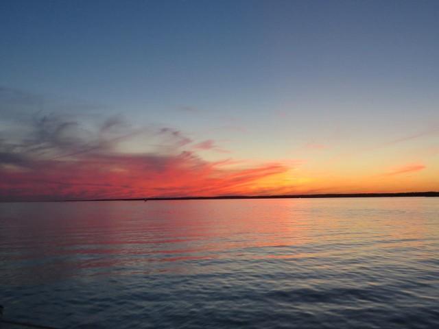 Stunning sunset colors