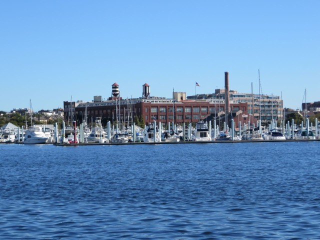 The city of Baltimore with its many marinas
