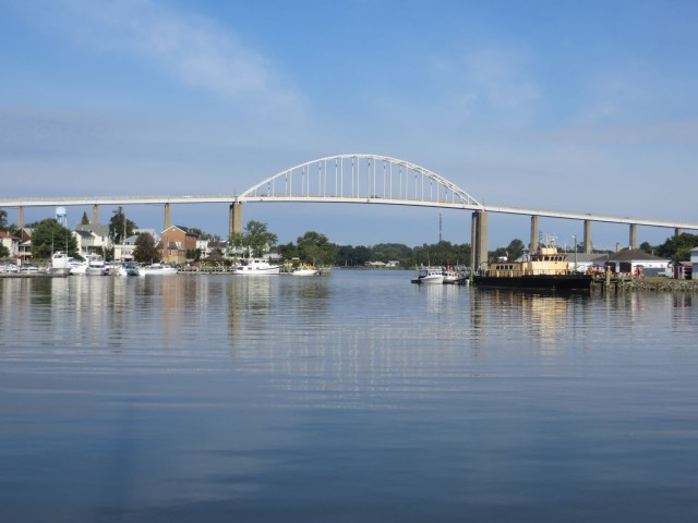 Chesapeake City, just off the Canal - a nice little anchorage