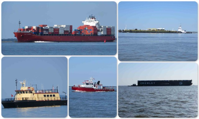 All shapes and sizes of vessels