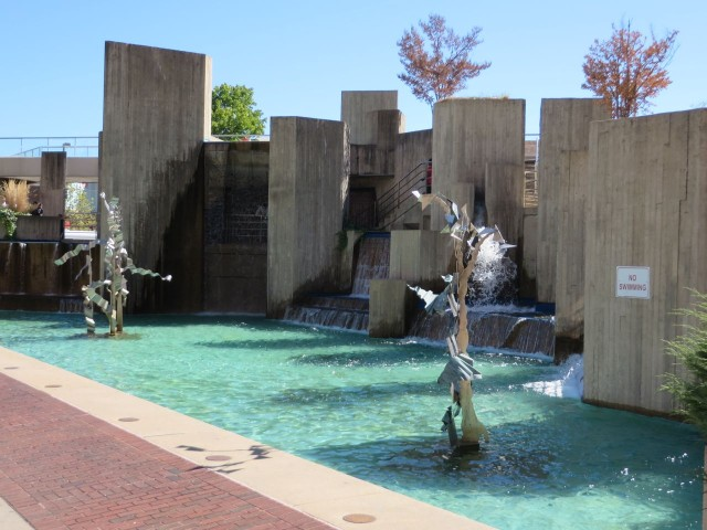 Cool fountains and sculptures