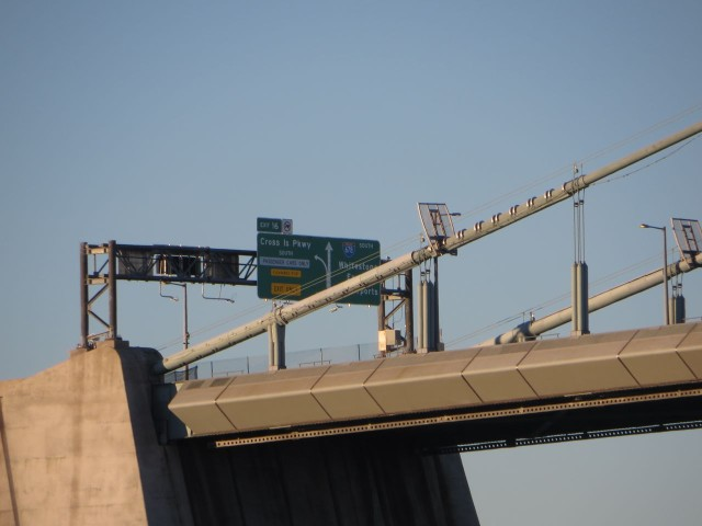 The Whitestone Bridge - see the sign for 678, Ryan and Kerri?