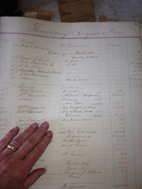A ledger from 1896