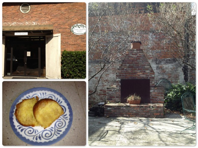 ~Kudzu Bakery front door ~ Kudzu Bakery outdoor terrace ~ and the rum cake!