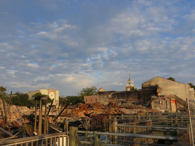 Georgetown waterfront fire scene, two months later