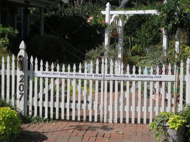 Do fences make good neighbors? This one piques one's curiosity.