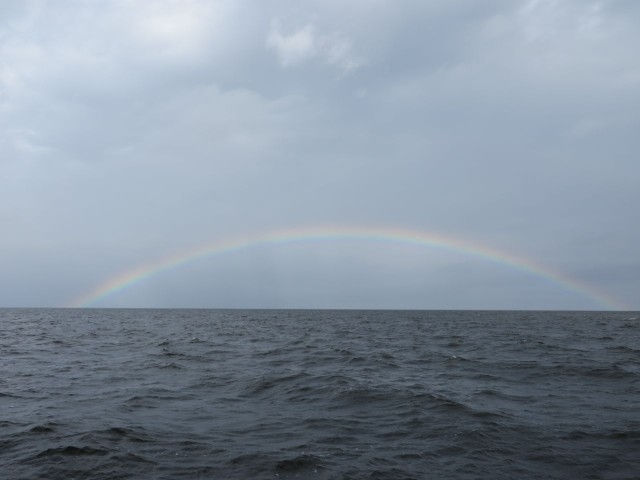 One of the largest rainbows we have ever seen
