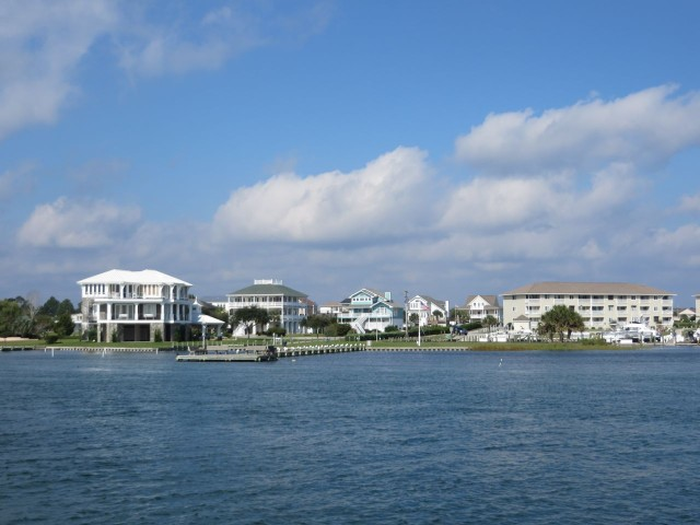 Homes along the western shore of the ICW