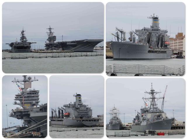 All shapes and sizes of Navy ships in Norfolk, Virginia