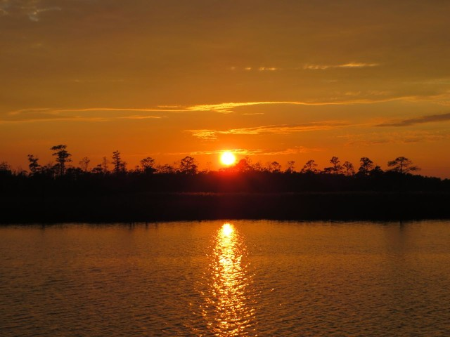 The sun sets on Broad Creek