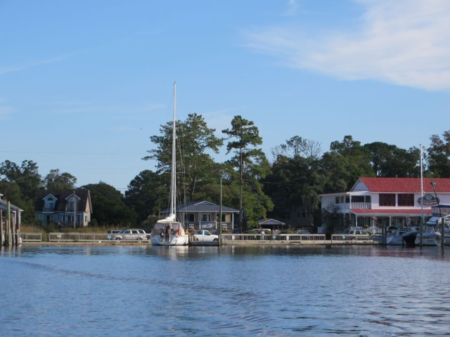Oriental Town Dock - you can actually view it from the harbor webcam.