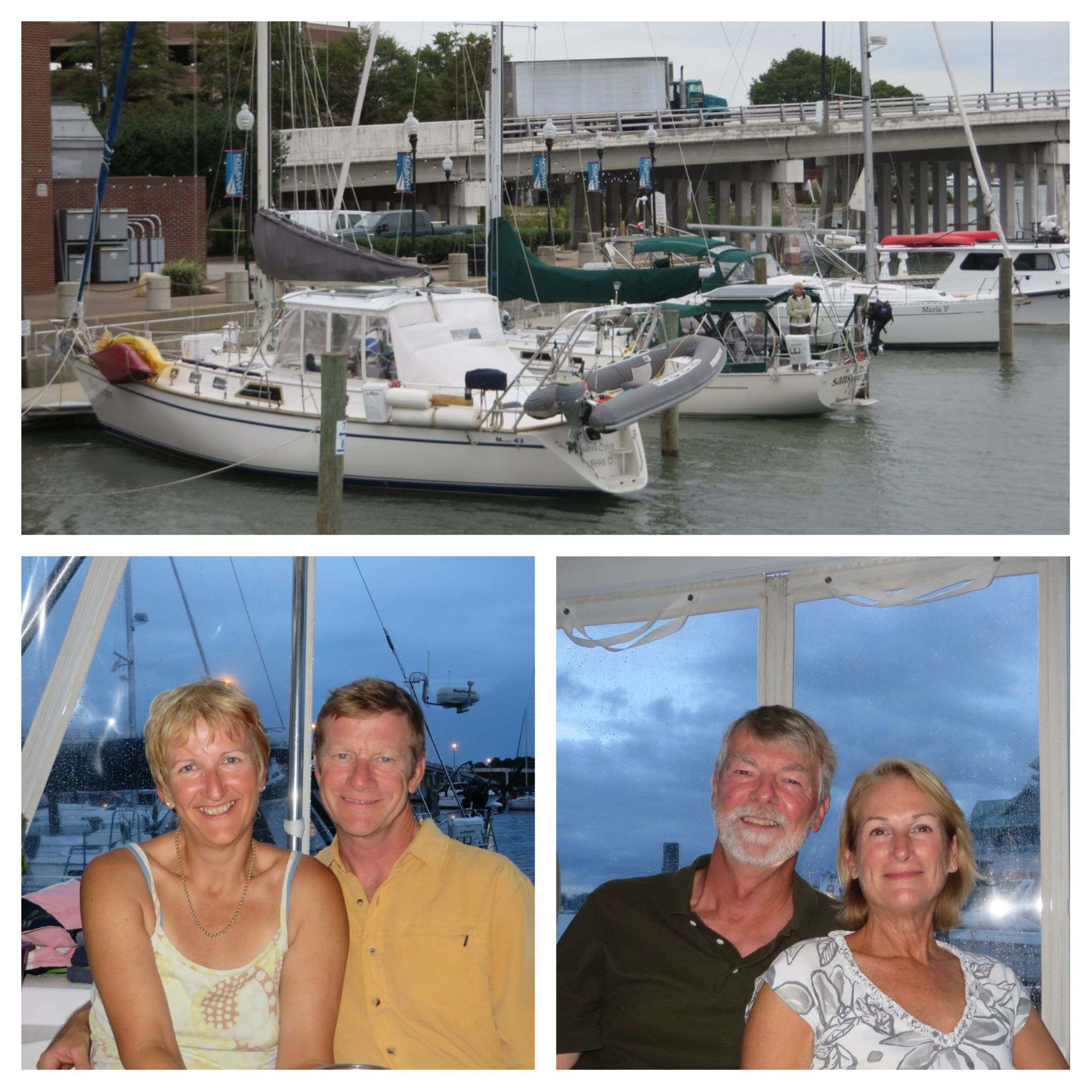 ~ Kindred Spirit and Sans Cles at dock ~ Dinner guests! What fun!