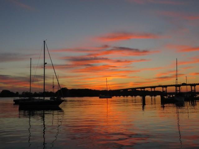 Sunset over Oriental, NC