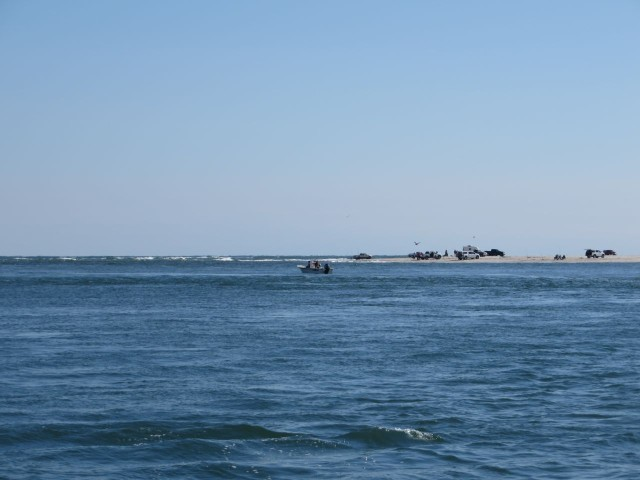 A view of the ocean through the Carolina Beach Inlet