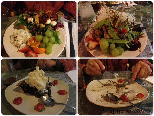 BLT plate, Birds Nest salad, Mississippi Mud Pie, and pie all gone! Yum.