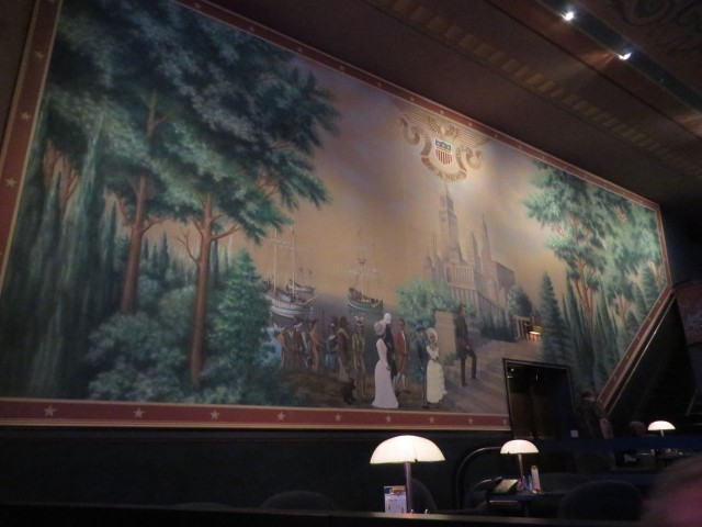 Mural decorating one side of the theater