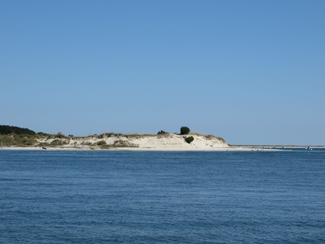 Sandy edges along the barrier islands