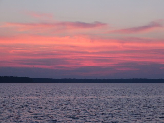 Sunset over Gwynn Island