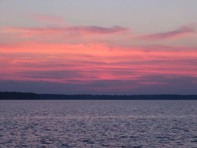 Sunset over Gwynn Island
