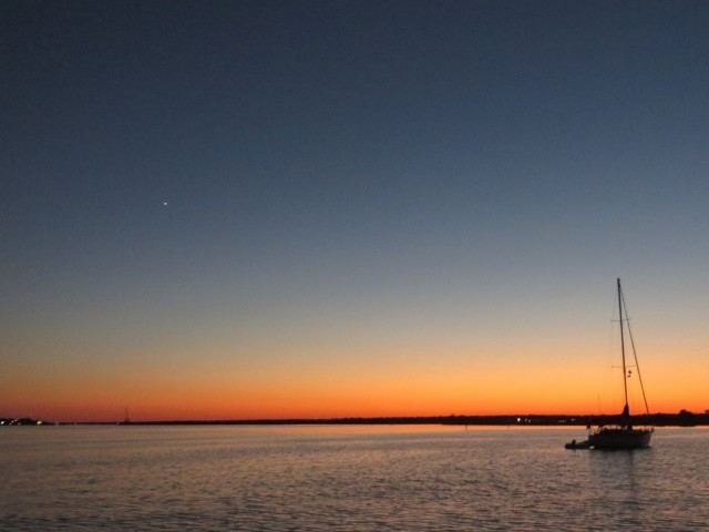 Another glowing sunset. If you look very closely, you might see Venus.