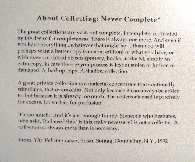About collecting