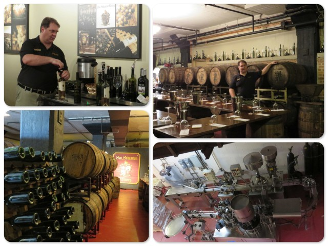 ~Jerry, our wine guide ~ oak casts of port wine ~the bottling room ~ our tasting time with Jerry