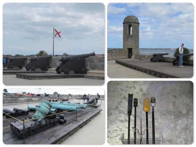 The cannons at Castillo San de Marcos