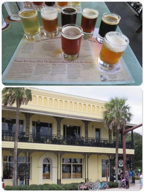 A1A Brewery - Balcony seats and a nice sampling of their brews