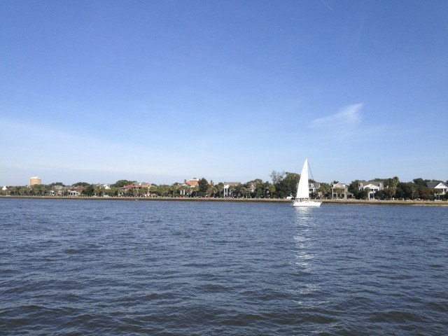 As we sailed past the southern tip of Charleston we could see Battery Park