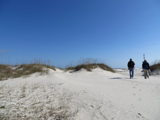 Approaching the sandy beaches