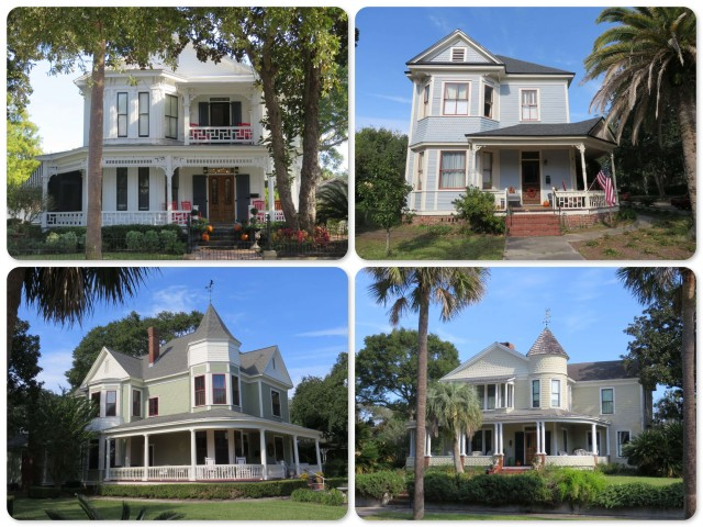 Upper Left, clockwise -~Prescott house (1896) ~Noble Hardy (1902) ~Hirth (1886) ~Baker (1859)