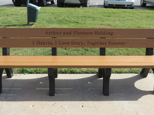 The dedication on this bench along the waterfront caught my eye!