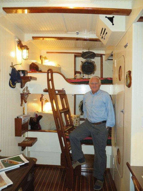 A nautical space for the grandchildren  designed and built by Rick