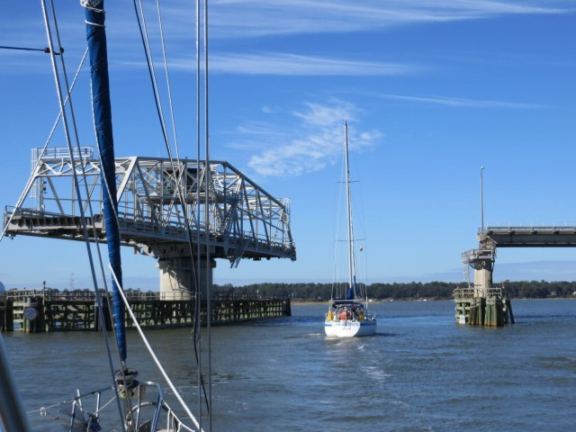 We passed through Ladys Island swing bridge