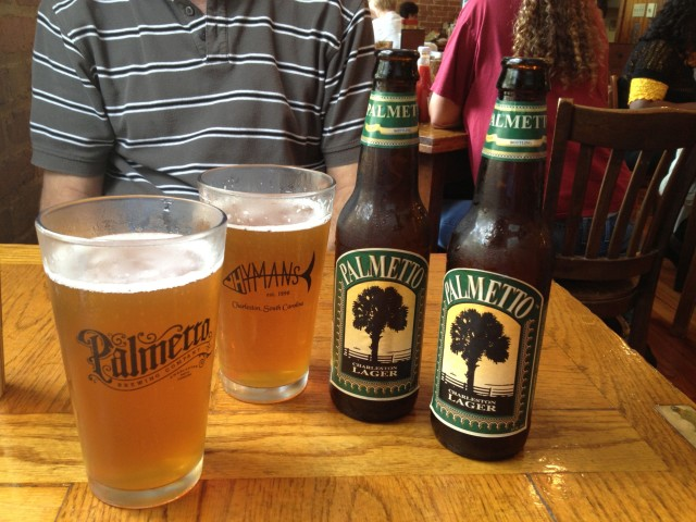 Palmetto beers at Hymans Seafood