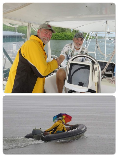 ~Al welcomes Bill aboard ~And returns him to shore in the rains