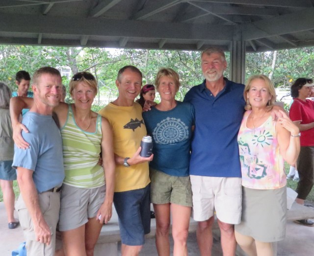 Shennecossett sailors ~Sue and Dave on san clés ~Marcia and Dan on Ctting Class ~Michele and Al on Kindred Spirit