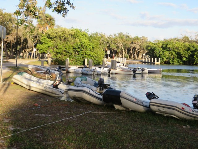 "The ""parking lot"" filling up with dinghies"