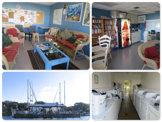 Vero Beach City Marina ~The lounge with wifi, tv, books, magazines ~The laundry ~The fuel dock