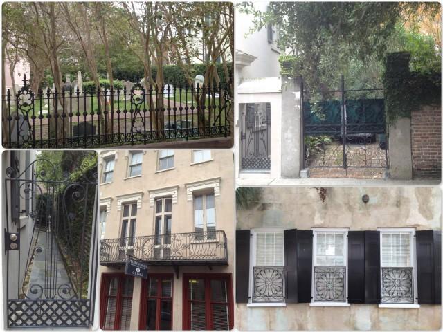 Ironwork gates, balconies, fences, windows