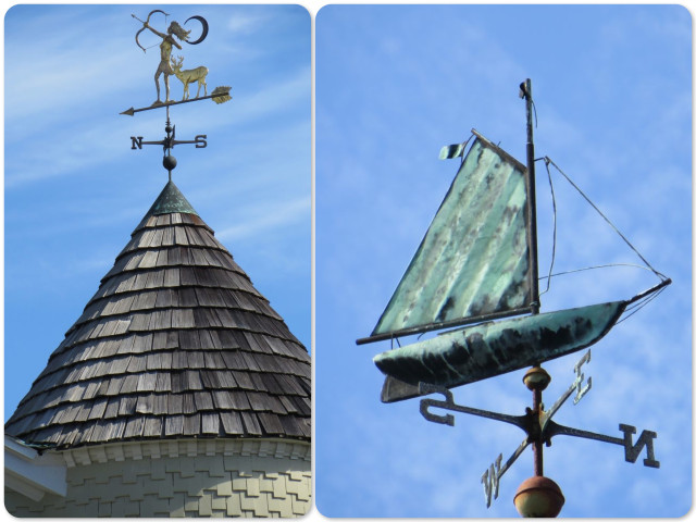 Love the weather vanes atop the cupolas
