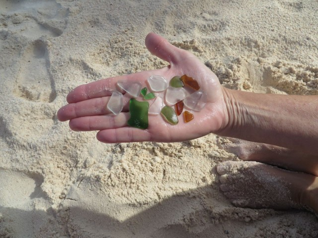 More sea glass from our walk along the beach