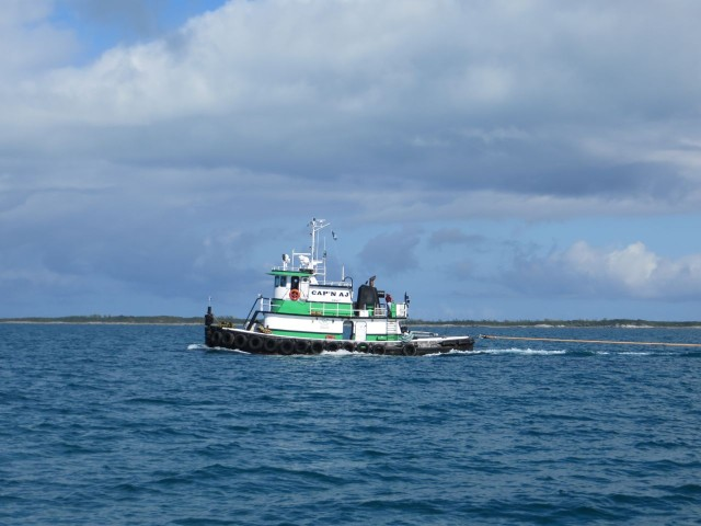 There are cute little tugs in the Bahamas, too
