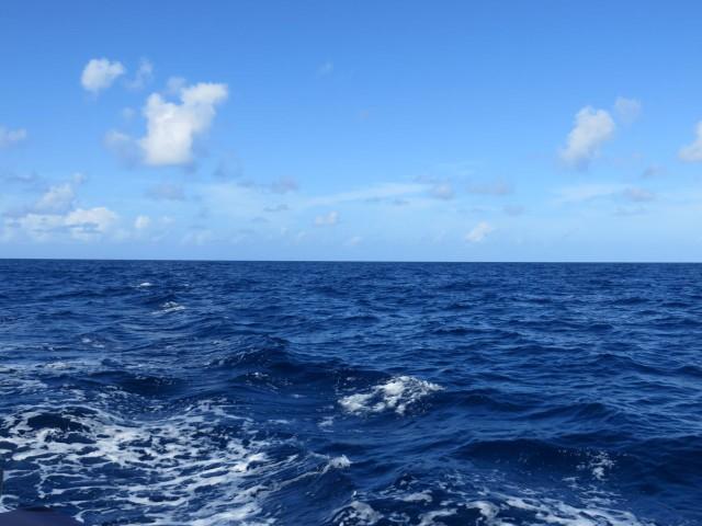 Nothing but blue ocean