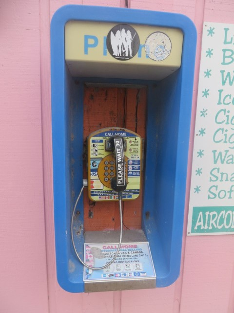 A pay phone! Some of you young folks won't even recognize this.
